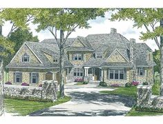 Cottage House Plan with 6589 Square Feet and 5 Bedrooms from Dream Home Source | House Plan Code DHSW54300