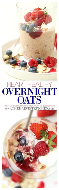These Heart Healthy Overnight Oats are the quintessential healthy breakfast. They're a healthy and satisfying combination of rolled oats, sliced almonds, flaxseeds, shredded coconut and almond milk. Oats are a power food that's rich in fiber, vitamins and minerals, offering a host of benefits for our overall health. Heart Healthy Breakfast, Healthy Breakfast Recipes, Oat Slice, Cholesterol Lowering Foods, Cholesterol Symptoms, Heart Healthy Recipes, Healthy Foods, Healthy Heart, Diet Foods