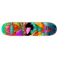 """Star Party"" Skate Board - TEN HUN"