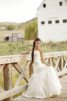 Rustic wedding gown from rusticweddingchic.com  @Roxanna Hassell