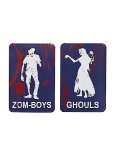 Zom-Boys and Ghouls Restroom Signs - Spirithalloween.com