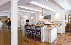 white kitchen, white cabinet, kitchen idea, point cabinetri, islands, breakfast bars, subway tiles, crown point, dream kitchens