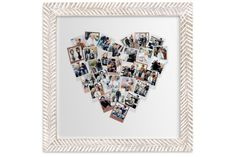 Really sweet Valentines gift: Framing your favorite photos in a heart design.