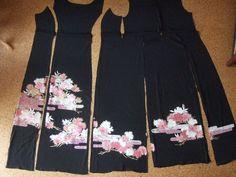 ソーイングときどき着物・・・ Have a nice day 良い一日をの画像|エキサイトブログ (blog) Silk Jacket, Kimono Jacket, Kimono Dress, Jacket Dress, Kimono Fabric, Japanese Fabric, Clothes Crafts, Dress Cuts, Western Outfits