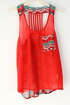 tribal tank- I love pinning stuff for fall but I don't want summer to end!