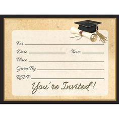 Diploma invitations are the perfect way to start the celebration!