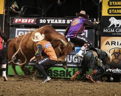 Jesse Byrne takes to the air to make a great save. (Photo by Andy Watson) Clown Photos, Rodeo Events, Rodeo Time, Show Cattle, Rodeo Queen, Bull Riders, Cowboy And Cowgirl, Wild Horses, Cowboys