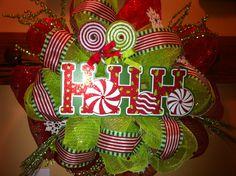 My first deco mesh wreath :)