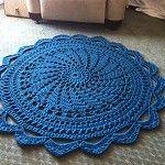 "Crochet Doily Rug - ""Raspberry Sorbet"" - by dainamickus on madeit"