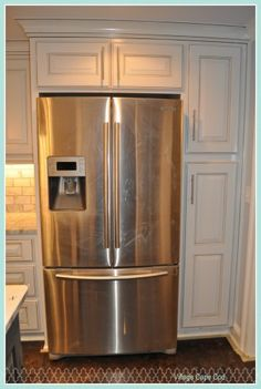 kitchen cabinets around refrigerator this gorgeous door refrigerator is a and it 5911