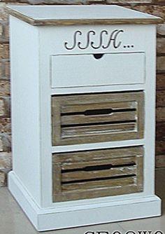 Annas House yöpöytä   Uuttakotiin.fi Filing Cabinet, Dresser, Kitchen Appliances, Storage, House, Furniture, Home Decor, Diy Kitchen Appliances, Purse Storage