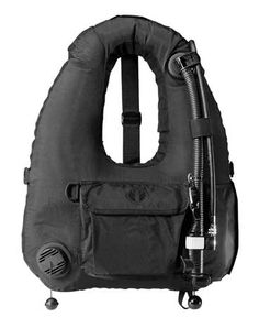 Aqua Lung Calypso BC Swimmers Vest The Calypso BC was designed to meet the strenuous demands of military or professional divers. The BC is donned over the head and held in place with adjustable straps. Two 38 grams CO2 cartridges are provided for emergency inflation. Amid-chest utility pocket is provided for small article stowage. Photo: Aqua Lung