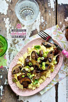 Mushroom Delight Scramble | Gluten Free & Paleo | FamilyFreshCooking.com #breakfast