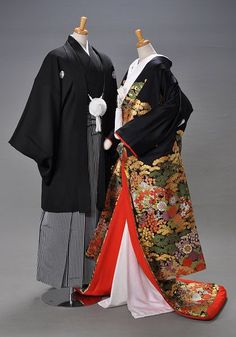male and female kimonos.