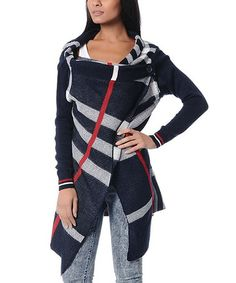 Take a look at this Navy Blue Plaid Cardigan by Polkadot on #zulily today!