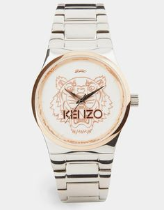 Kenzo | Kenzo Silver Tiger Head Watch at ASOS