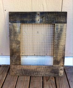 rustic wood and wire earring holder by on etsy