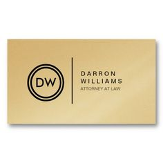 YOUR INITIALS LOGO on GOLD Customizable Personal Business Card Template (Business Card Lawyer Keep Calm)