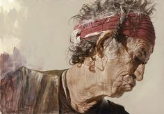 Great drawings and caricatures of famous people. Created by Sebastian Krüger. Great drawings and caricatures of famous people. Created by Sebastian Krüger. Keith Richards, Rolling Stones, Charlie Watts, Sebastian Kruger, Maggi Hambling, Hyper Realistic Paintings, Celebrity Drawings, Celebrity Caricatures, Popular Artists