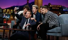 #OneDirection. #LateLateShow. Tonight. 12:37/11:37c on CBS.