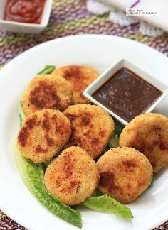 Receta de nuggets de coliflor. Con fotografías paso a paso, consejos y sugerencias de degustación. Recetas de verduras