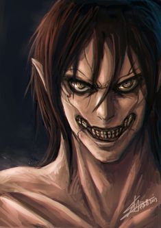 Eren. Wants to kill all the titans. Becomes one of them. #eren #titan #attackontitan