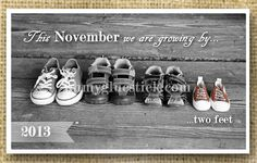 Growing by Two Feet Pregnancy Announcement by Oh by ohmygluestick, $12.00