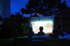 outside movie night