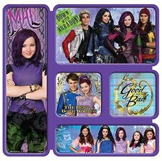 Disney Descendants Magnets with Mal, Evie, Jane and more Descendants characters. Put one in each favor bag.
