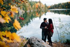 This Beautiful, Fall Engagement Session Took Place In The Winding Trails of Pink Lake, QC. As An Ottawa Photographer, This Has To Be One Of My Favourite Places For An Autumn Engagement Session. Romantic Photography, Engagement Photography, Wedding Photography, Fall Engagement, Engagement Session, Engagement Photos, Pink Lake, Wild Hearts, Candid