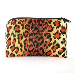"""Cheetah Print Cotton Padded Pipe Pouch 4"""" / Glass Pipe Case / Spoon Cozy / Piece Protector / Pipe Bag / MINI by PouchAPalooza on Etsy, $8.00"""