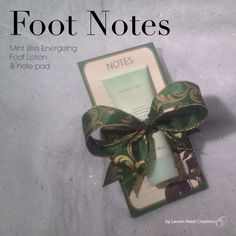 Foot Notes $13  Contact me to get your today!!! Awelch8421@marykay.com  Www.marykay.com/awelch8421  Call or text (409)656-8771
