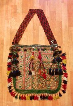 Vintage leather bag ethnic unique bag uzbek by akcaturkmen on Etsy