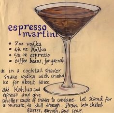 Espresso Martini + my personal touch: top it w/whip cream and chocolate covered coffee beans & chocolate sauce drizzle! Espresso Martini + my personal touch: top it w/whip cream and chocolate covered coffee beans & chocolate sauce drizzle! Coffee Cocktails, Cocktail Drinks, Fun Drinks, Yummy Drinks, Cocktail Recipes, Alcoholic Drinks, Beverages, Margarita Cocktail, Bourbon Cocktails