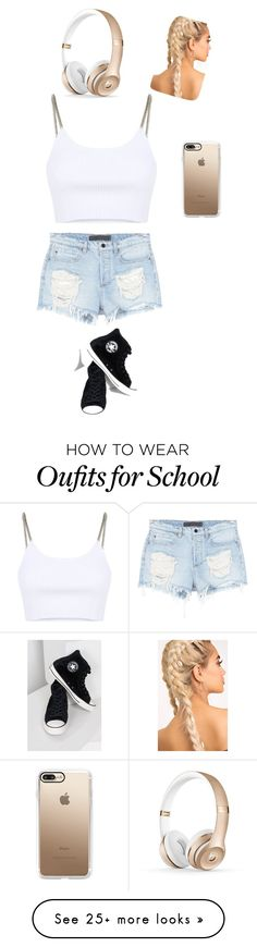"""Back 2 school!"" by majones-i on Polyvore featuring Alexander Wang, Converse and Casetify"