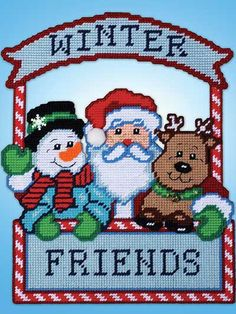 Discover thousands of images about Christmas Santa Door Hanger Plastic Canvas E~Pattern - plastic canvas Plastic Canvas Letters, Plastic Canvas Stitches, Plastic Canvas Ornaments, Plastic Canvas Crafts, Canvas Designs, Canvas Patterns, Christmas Signs, Christmas Crafts, Xmas