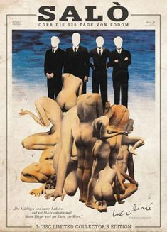 """Posters for """"Salò or the 120 days of Sodom"""", 1975, dir. Pier Paolo Pasolini"""