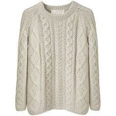 La Garconne Moderne Alpaca Handknit Sweater ❤ liked on Polyvore