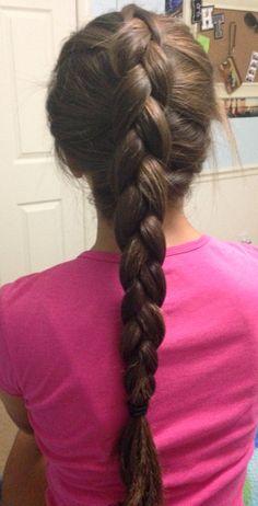 My best friend gave me a Dutch braid