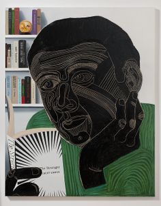 Nicole Eisenman (b. 1965, Verdun, France) - Guy Reading The Stranger, 2011 Courtesy of Susanne Vielmetter Los Angeles Projects