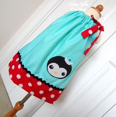 Octonauts Peso Penguin Polka Dot Pillowcase Dress ...perfect for a themed birthday!