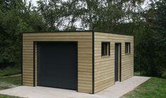 garage ossature bois toit plat epdm                              …
