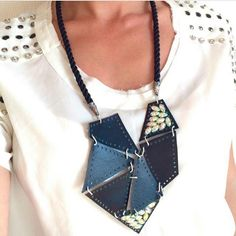 #blackleather #ropenecklace in #geometric #heartshape in my @etsy shop http://ift.tt/2hXcave #futuristic #unusual #unique #designer #biker #geometric #leather #contemporary #abcrystals #designernecklace #accesories #etsyjewelry #jewelryforsale #jewls #collar #handmade #crafted