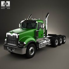 Mack Titan Tractor Truck 4axle 2007 3d model from humster3d.com. Price: $75