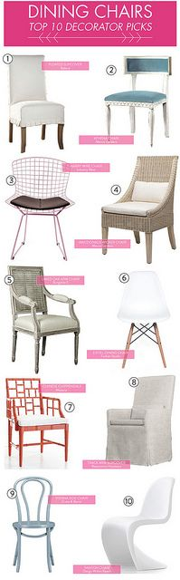 top 10 decorator picks - dining chairs