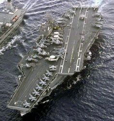 USS Kitty Hawk CVA CV 63 aircraft carrier US Navy