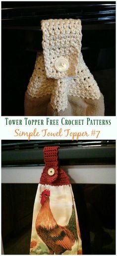 Crochet For Beginners Simple Towel Topper Crochet Free Pattern - Crochet Towel Tops, Crochet Towel Holders, Crochet Dish Towels, Crochet Kitchen Towels, Crochet Hot Pads, Beginner Crochet Tutorial, Beginner Crochet Projects, Crochet For Beginners, Crochet Tutorials