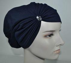 New Cotton Lycra Under Scarf Shawl Hijab Chemo Cap Hat Swarovski Navy Blue Middle Eastern Clothing, Caps Hats, Shawl, Swarovski, Navy Blue, Sewing, Cotton, Ebay, Clothes