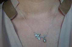 Mini Squirrel and Pinecone  sterling silver chain by gracecilia82, $20.00