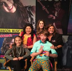 The cast with Maddie and Abby